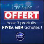 Bon Plan Nivéa Men : 1 T-Shirt PSG Offert pour 3 produits achetés !! - anti-crise.fr