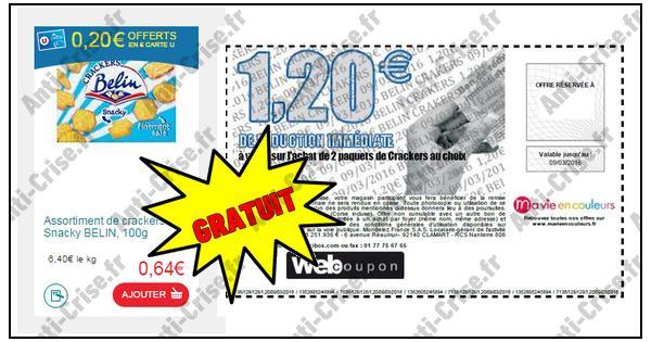 Bon Plan Belin : 2 Boîtes de Crackers Snacky Gratuites chez Magasin U - anti-crise.fr
