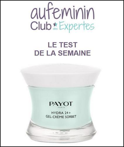 Test de Produit Au Féminin : Hydra24+ Gel-Crème Sorbet de Payot - anti-crise.fr