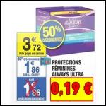 Bon Plan Always : Big Pack Ultra à 0,19 € chez Carrefour Market - anti-crise.fr