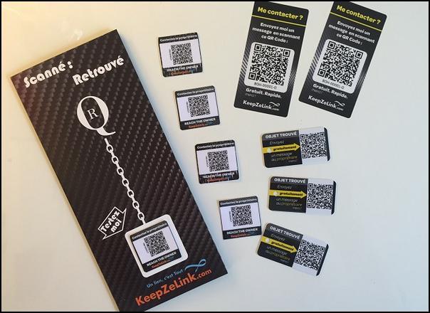 Test de Produit Sampleo : Black Pack avec votre QR personnalisé KeepZeLink  - anti-crise.fr