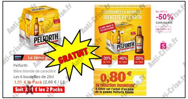 Bon Plan Pelforth : Packs 6x25 cl Gratuits ou presque - anti-crise.fr