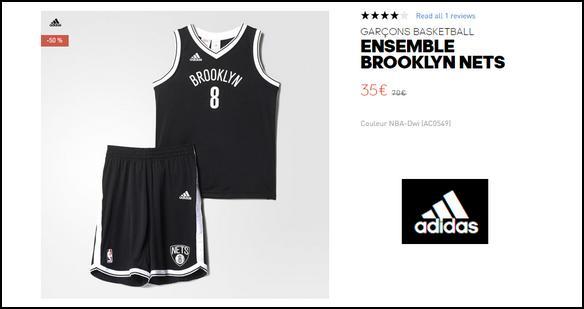 Bon Plan Adidas : Ensemble Brooklyn Nets Enfant à 35€ - anti-crise.fr