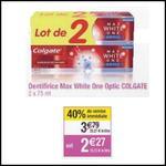 Bon Plan Colgate : Lot de 2 Dentifrices Max White à 0,27€ chez Cora - anti-crise.fr