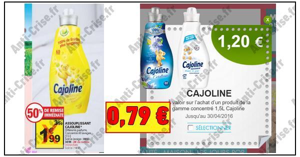 Bon Plan Cajoline : Assouplissant 1,5 L à 0,79 € chez Auchan - anti-crise.fr