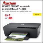 Bon Plan Auchan : Imprimante HP jet encre OfficeJet Pro 6230 à 49€ - anti-crise.fr