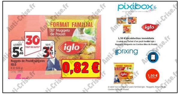 Bon Plan Iglo : Pack Familial de Nuggets de Poulet à 0,82 € chez Géant Casino - anti-crise.fr