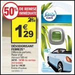 Bon Plan Fébrèze : Désodorisant Voiture Gratuit chez Auchan - anti-crise.fr