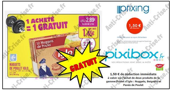 Bon Plan Iglo : 2 Boîtes de Nuggets de Poulet Gratuites chez Match - anti-crise.fr
