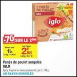 Bon Plan Iglo : 2 Boîtes de Panés de Poulet Gratuites chez Carrefour - anti-crise.fr