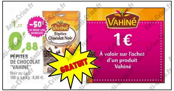 Bon Plan Vahiné : Pépites de Chocolat Gratuites Chez Leclerc - anti-crise.fr