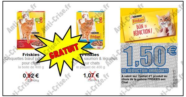 Bon Plan  Friskies : Boîte de Croquettes 400g Gratuite Partout !! - anti-crise.fr