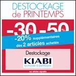 Bon Plan Kiabi : Jusqu'à - 50% + 20% supplémentaire sur le Destockage de Printemps - anti-crise.fr