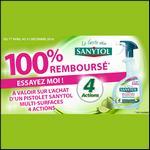 Offre de Remboursement Sanytol : Nettoyant Multi-Surfaces 4 Actions 100% Remboursé - anti-crise.fr