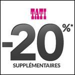 Bon Plan Tati : -20% supplémentaires sur le Destockage - anti-crise.fr