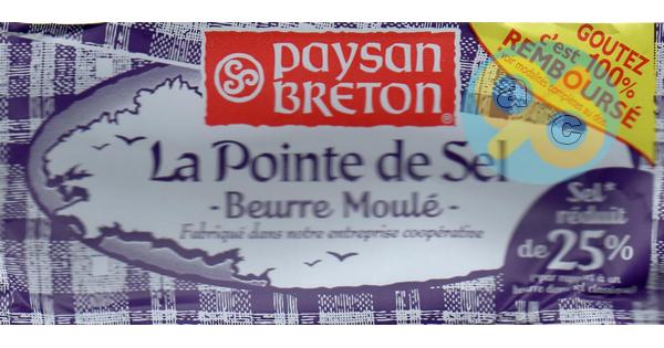 Offre de Remboursement Paysan Breton : Beurre Moulé Fleur de Sel 100% Remboursé - anti-crise.fr