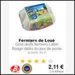 Bon Plan Loué : 2 Boîtes de 6 Oeufs Fermiers à 1,02€ chez Intermarché - anti-crise.fr