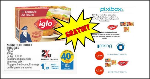 Bon Plan Iglo : 3 Boîtes de Nuggets de Poulet Gratuites chez Leclerc - anti-crise.fr