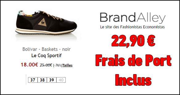 Bon plan le coq sportif basket bolivar 22 90 sur - Frais de port offert brandalley ...