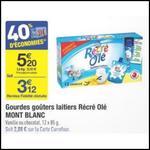 Bon Plan Mont Blanc : 12 Gourdes Récré O'lé à 0,52€ chez Carrefour - anti-crise.fr