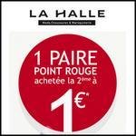 Bon Plan La Halle : 1 Paire signalée « point rouge » achetée, la 2ème est à 1€ - anti-crise.fr