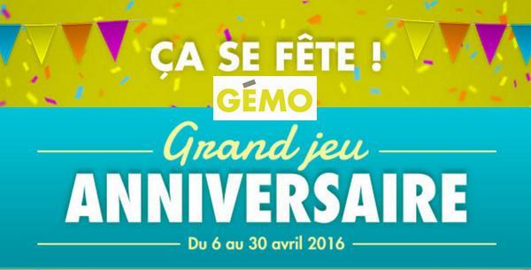 Instants Gagnants Gémo : Carte Cadeau de 20€ à Gagner - anti-crise.fr