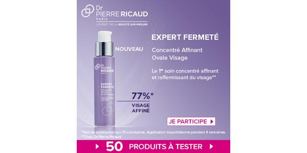 Test de Produit Beauté Test : Expert Fermeté Concentré Affinant Ovale Visage de Dr Pierre Ricaud - anti-crise.fr