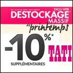 Bon Plan Tati : -10% supplémentaires sur le Destockage de Printemps - anti-crise.fr