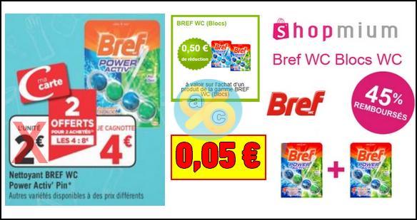 Bon Plan Bref : Nettoyants WC Power Activ' à 0,05€ chez Géant Casino - anti-crise.fr