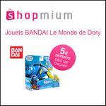 Offre de Remboursement Shopmium : 5€ dès 15€ sur les Jouets BANDAI Le Monde de Dory - anti-crise.fr