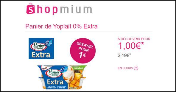 Offre de Remboursement Shopmium : Panier de Yoplait 0% Extra à découvrir pour 1€ - anti-crise.fr