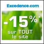 Bon Plan Excedence : -15% Supplémentaires sur tout le Site - anti-crise.fr