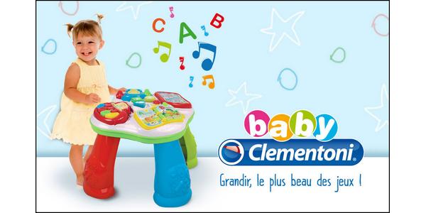 Test de Produit Conso Baby : Table d'activités Clementoni - anti-crise.fr