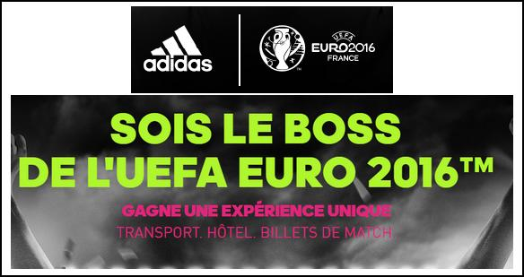 Tirage au Sort Adidas : Un Séjour Unique pour L'UEFA Euro 2016 à Gagner - anti-crise.fr