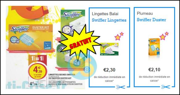 Bon Plan Swiffer : Kit Duster + Lingettes Gratuits chez Magasin U Est - anti-crise.fr