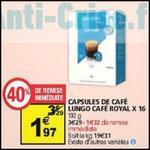 Bon Plan Café Royal : Capsules pour Dolce Gusto à 0,32€ chez Auchan - anti-crise.fr