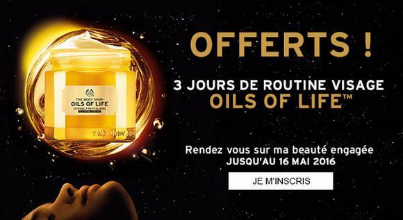 Test de Produit The Body Shop : Routine Visage Oils Of Life™ - anti-crise.fr