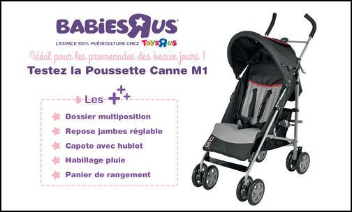 Test de Produit Conso Baby : Poussette M1 Babies R Us - anti-crise.fr