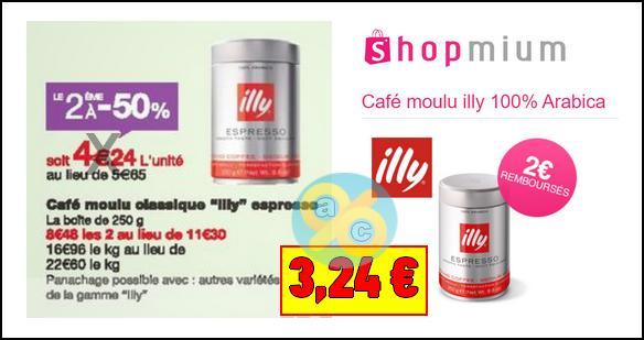 Bon Plan Café Moulu illy 100% Arabica chez Monoprix - anti-crise.fr