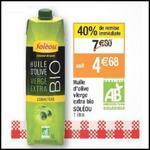 Bon Plan Soléou : Huile d'Olive Vierge Extra à 0,68€ chez Cora - anti-crise.fr
