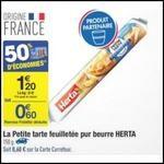 Bon Plan Petite Tarte Feuilletée Herta chez Carrefour - anti-crise.fr