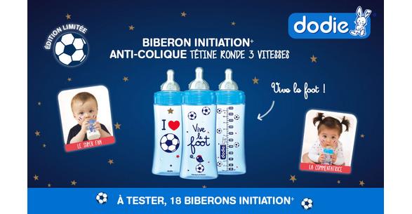 Test de Produit Conso Baby : Biberon anti-colique 3 vitesses 'FOOT' de Dodie - anti-crise.fr