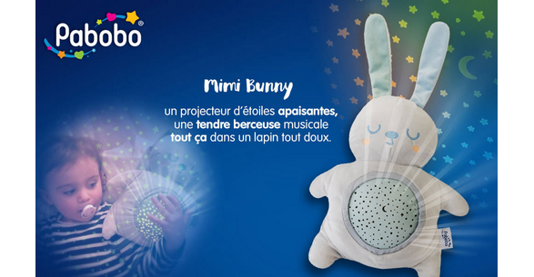 Test de Produit Conso Baby : Peluche avec projecteur Mimi Bunny de Pabobo - anti-crise.fr