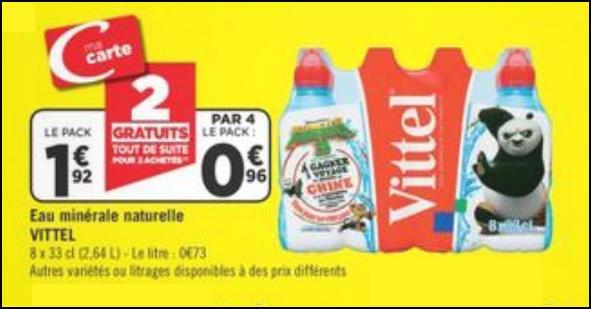 Bon Plan Pack Vittel chez Géant Casino - anti-crise.fr