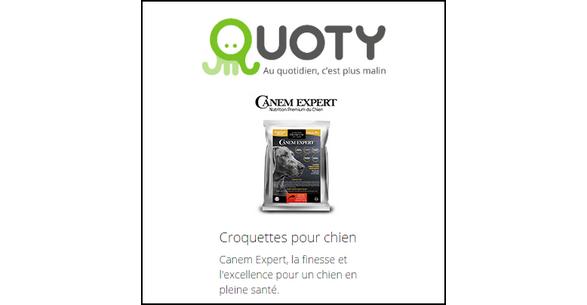 Echantillon sur Quoty : Croquettes pour chien  Canem Expert - anti-crise.fr