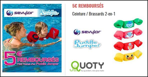 Offre de Remboursement Quoty : 5€ sur 1 Ceinture Brassards 2-en-1 - anti-crise.fr
