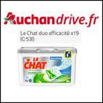 Bon Plan Lessive Le Chat Duo Efficacité sur Auchan Drive - anti-crise.fr