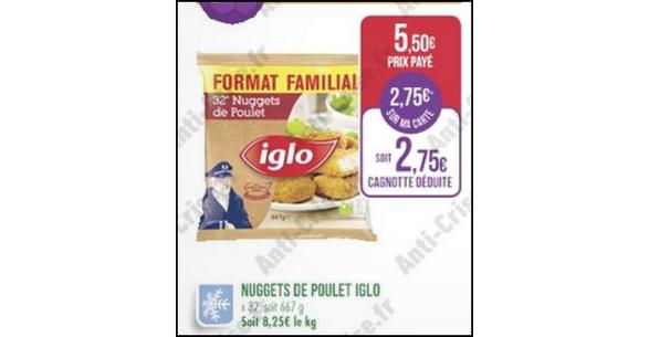 Bon Plan Pack Familial Nuggets de Poulet Iglo chez Match - anti-crise.fr