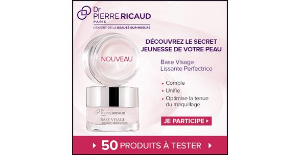 Test de Produit Beauté Test : Base Visage Lissante Perfectrice de Dr Pierre Ricaud - anti-crise.fr