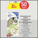 Bon Plan Glade by Brise : Automatic Spray Diffuseur Gratuit chez Intermarché - anti-crise.fr